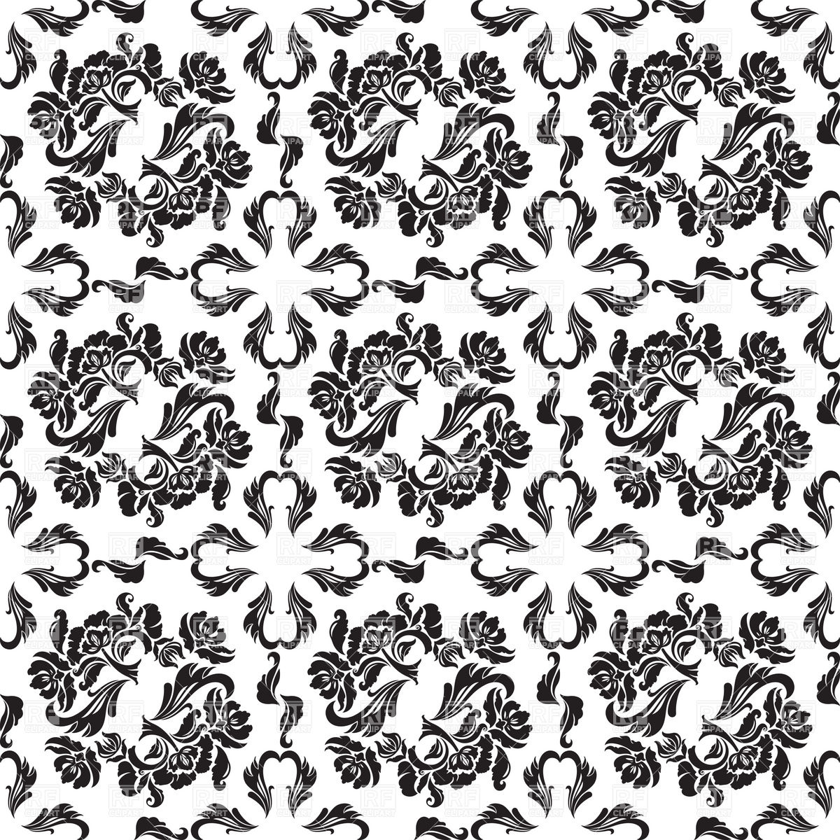 victorian wallpaper with floral pattern 18888 download royalty free 1200x1200