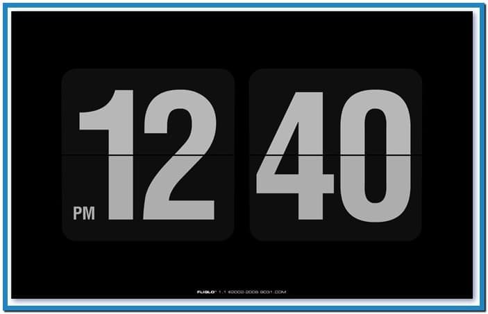 Digital clock screensaver for desktop   Download 703x453