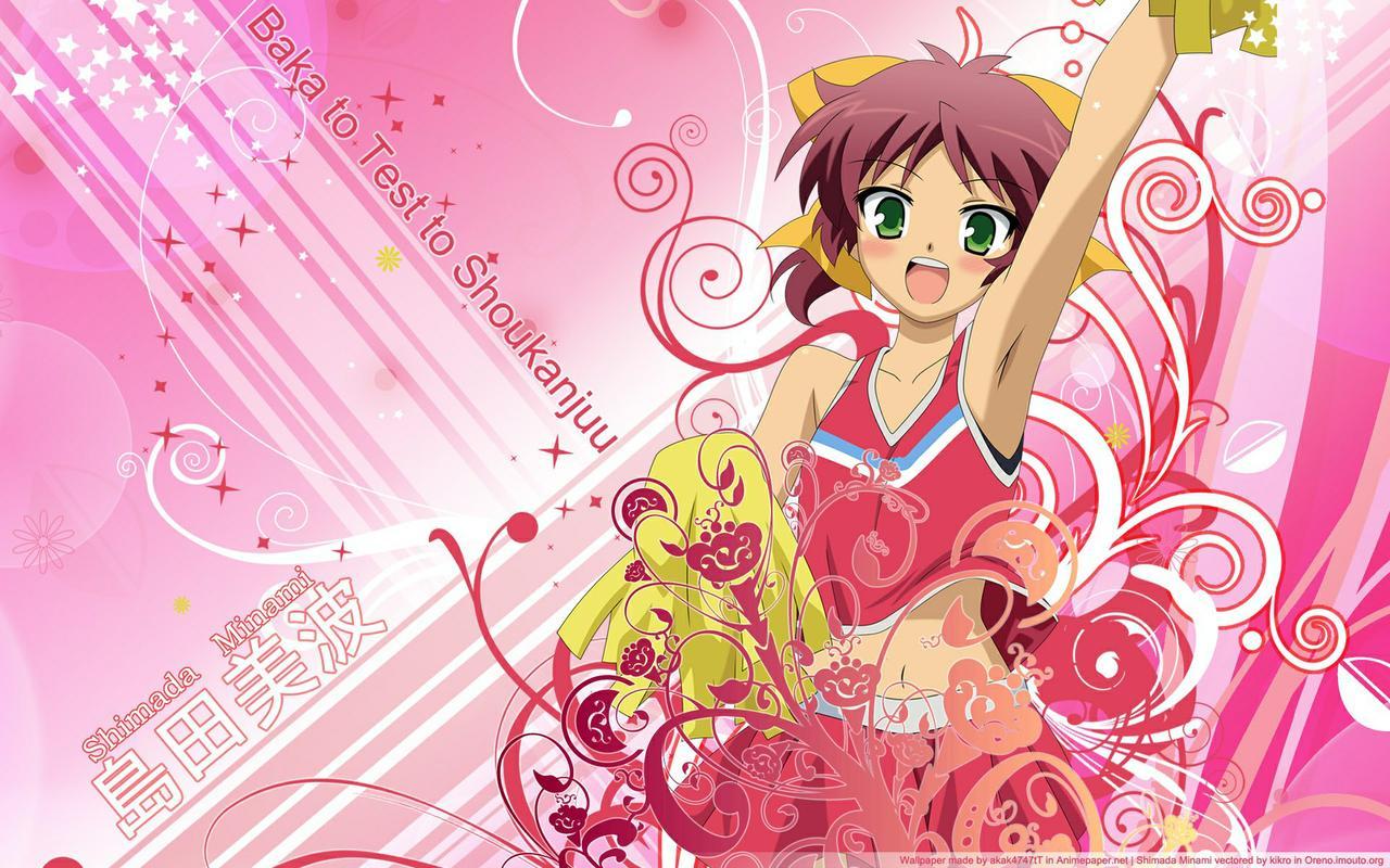 Minami Shimada   Baka to Test to Shoukanjuu Wallpaper 32913337 1280x800