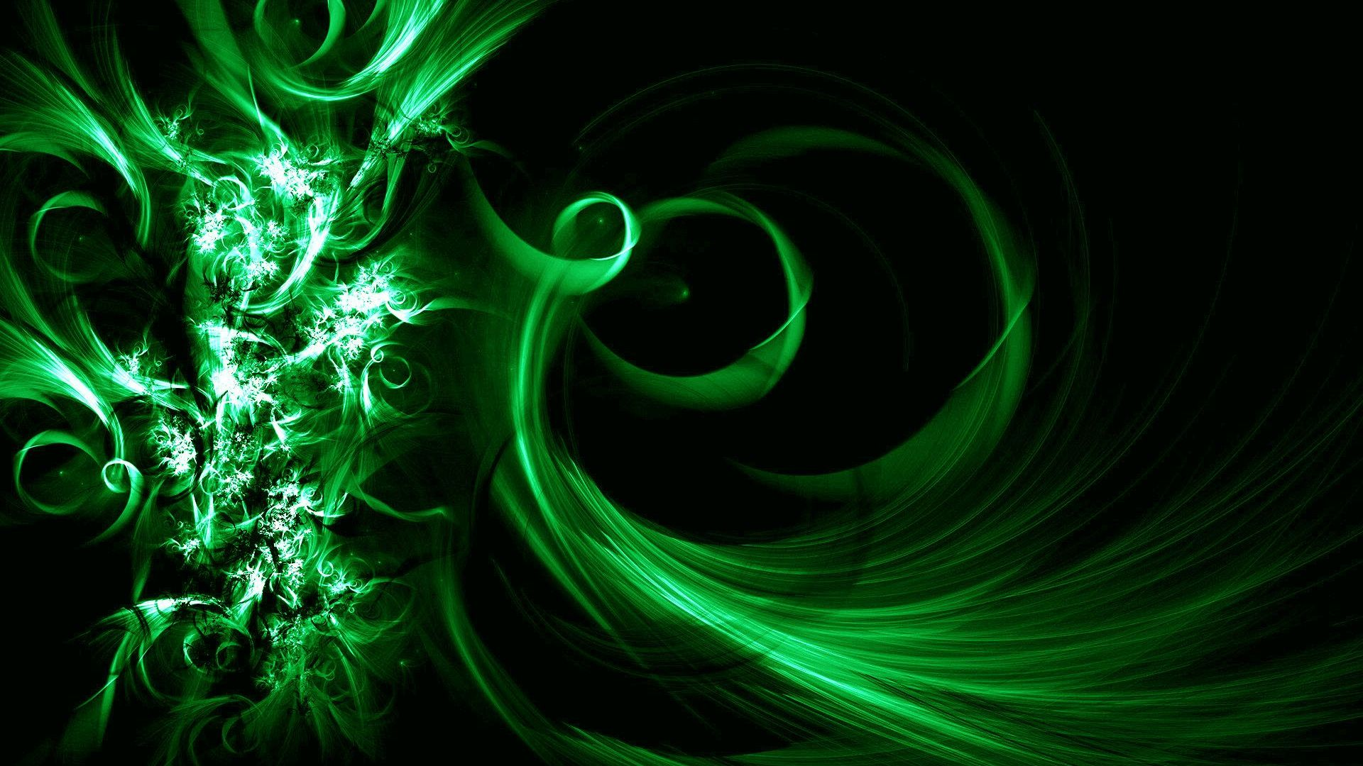 1920x1080 green wallpaper: Green Glow Wallpaper