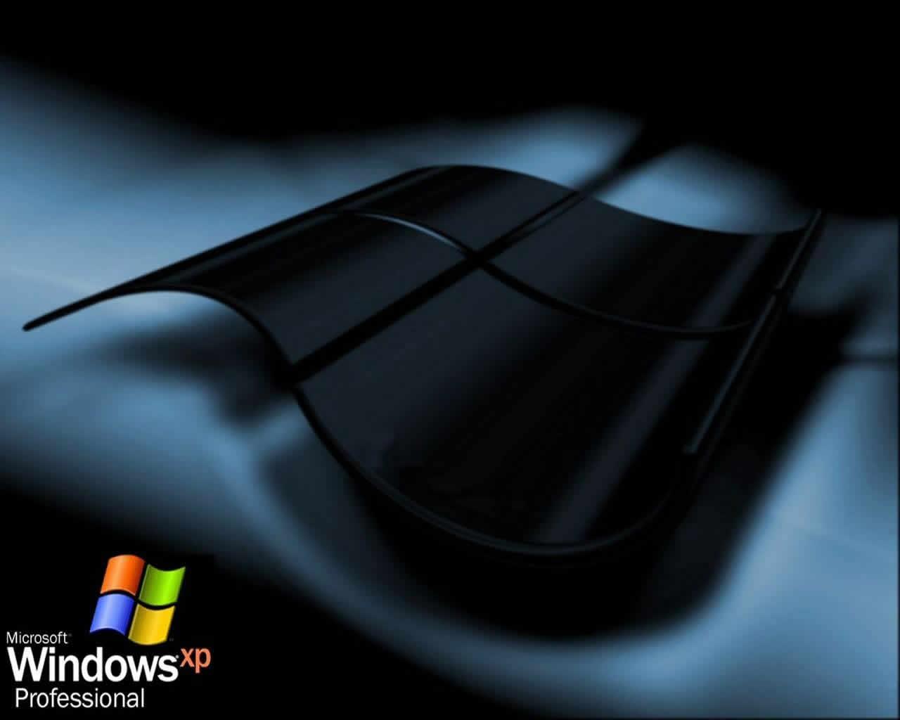 Fondo de pantallas de XP Negro de Windows gratis para descargar 1280x1024
