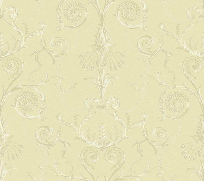 Cream Gold Neoclassic Damask Wallpaper   Traditional Wallpaper 650x578