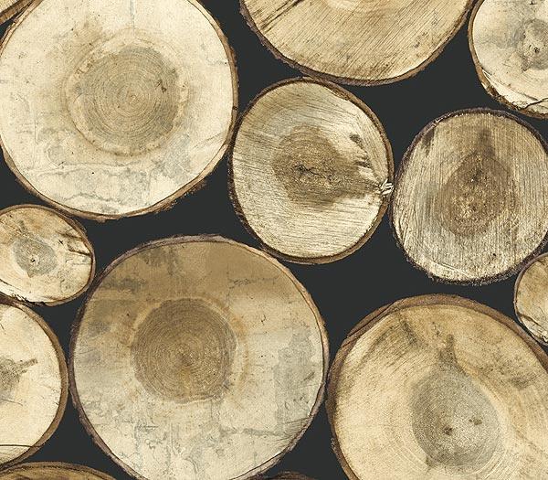 Interior Place black wood log wallpaper barn Pinterest 600x525