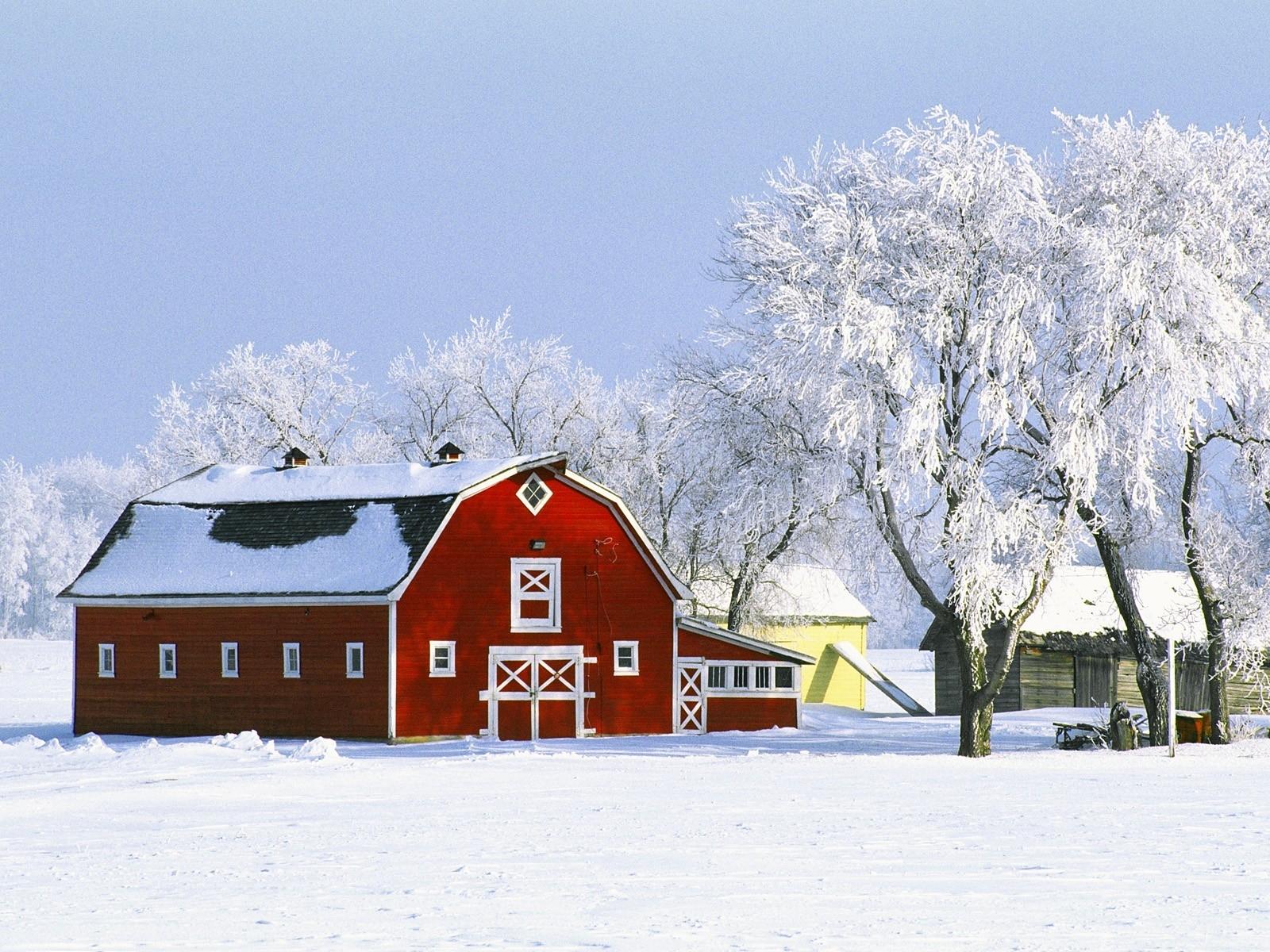 43 winter farm desktop wallpaper on wallpapersafari - Winter farm scenes wallpaper ...