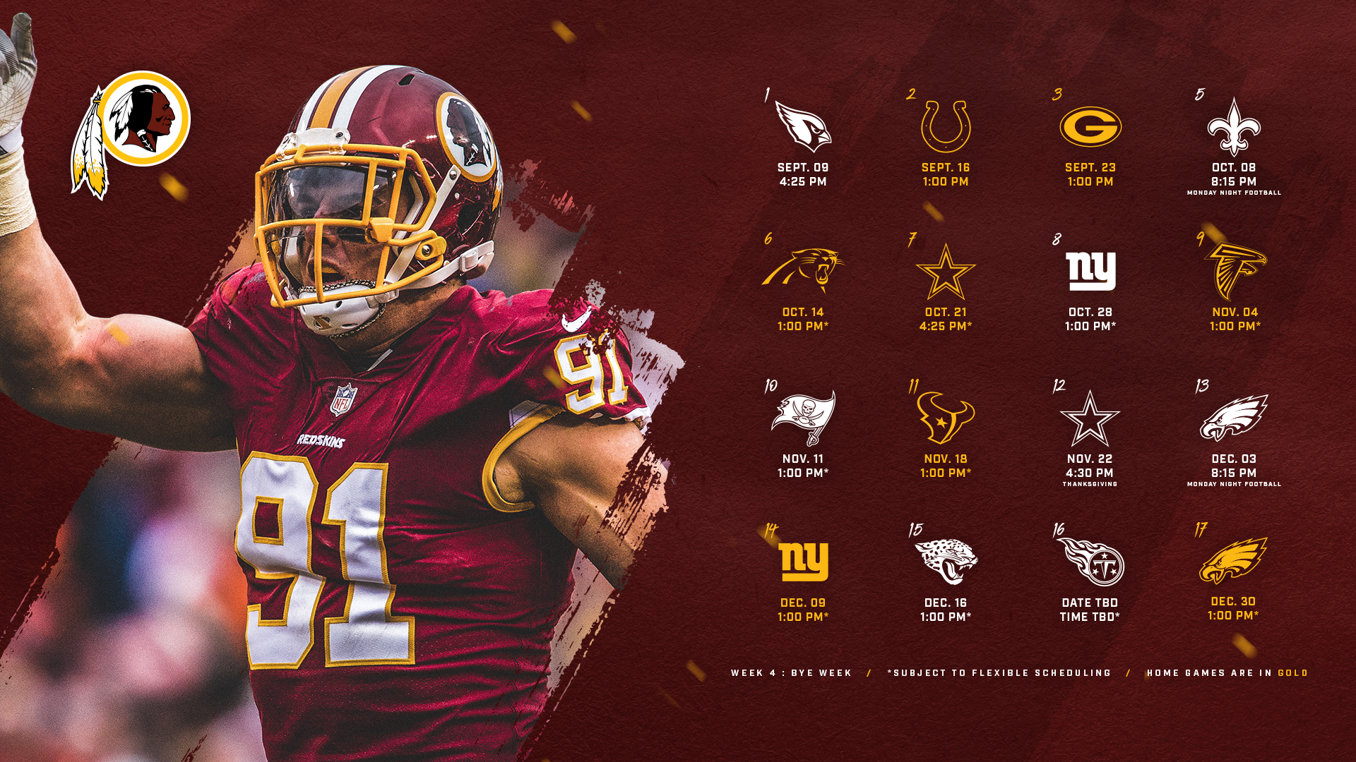 Washington Redskins Desktop Wallpaper posted by Zoey Thompson 1920x1080