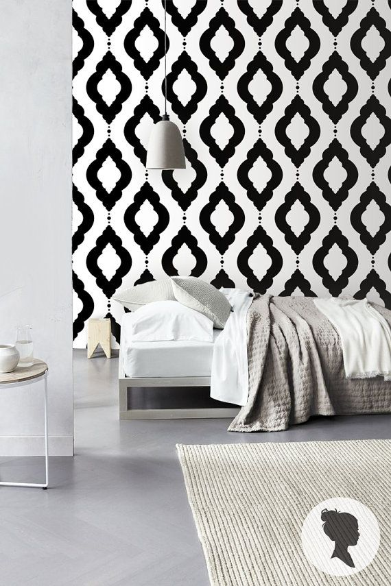 Damask Geometric Pattern Self Adhesive Vinyl Wallpaper Z060 570x855