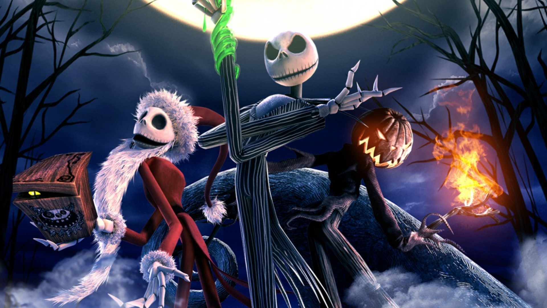 1920x1080 The Nightmare Before Christmas Skeletons desktop PC and 1920x1080
