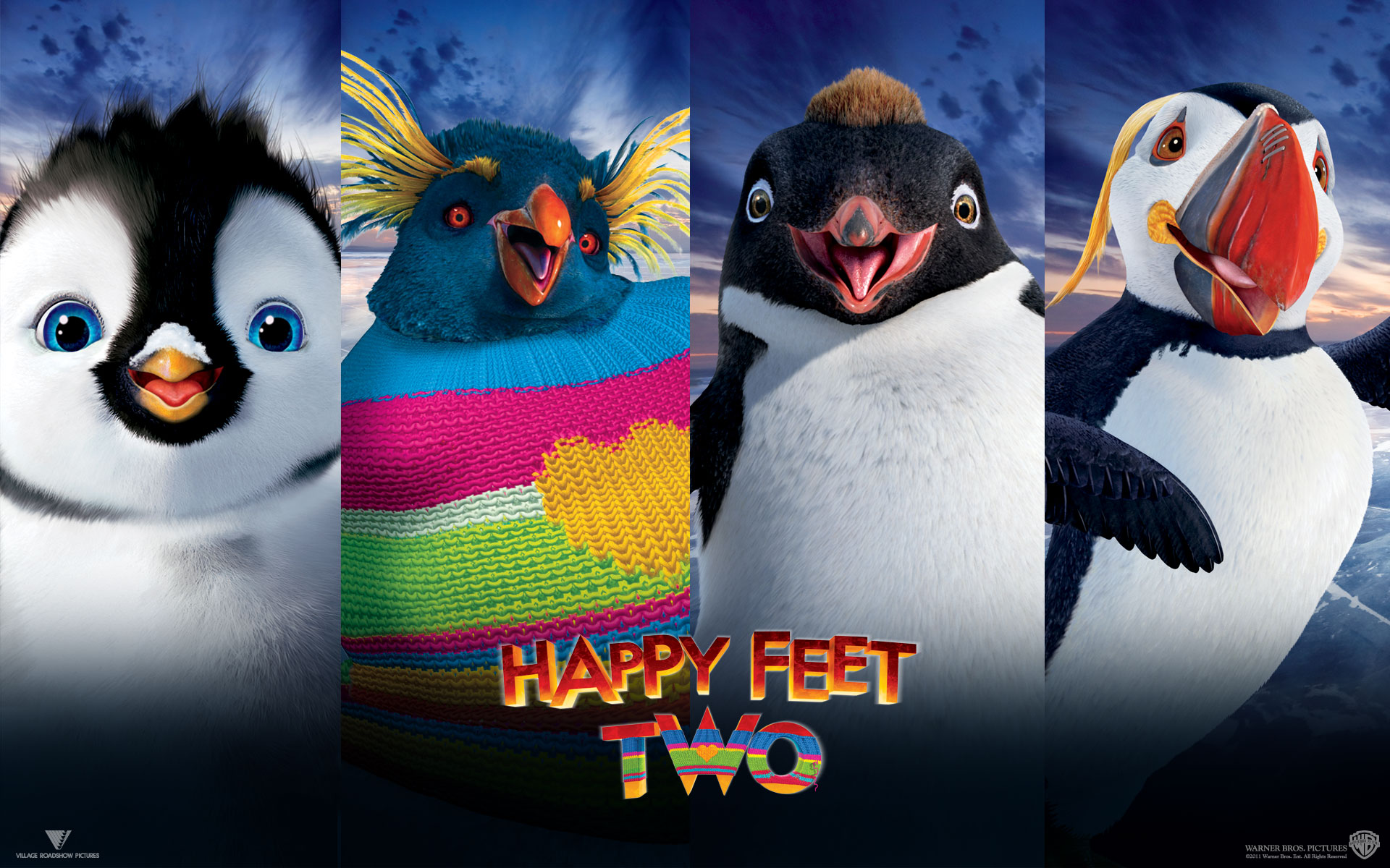 Happy Feet Two Cast Desktop Wallpaper 1920x1200