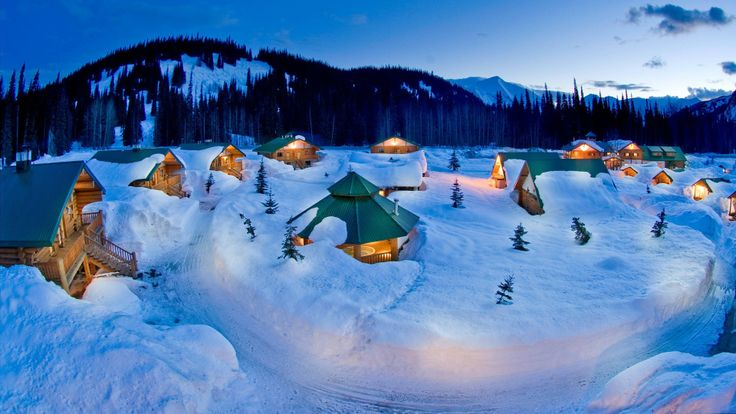 COLD COZY CABINS Winter Christmas Wallpaper Pinterest 736x414