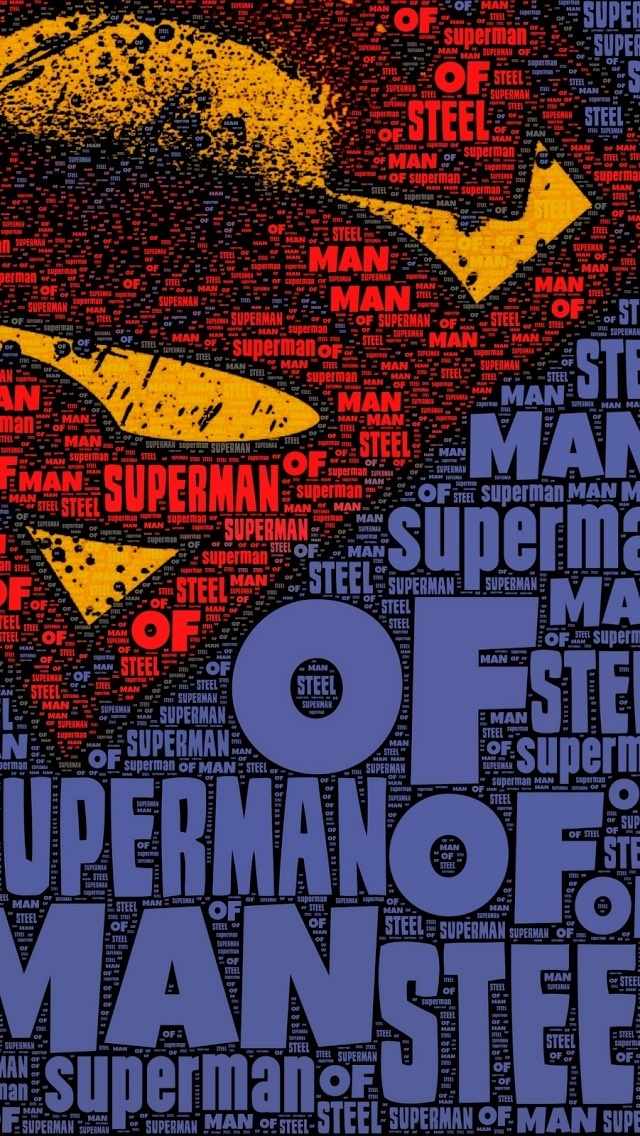 Man of Steel Collage iPhone 5 Wallpaper 640x1136 640x1136