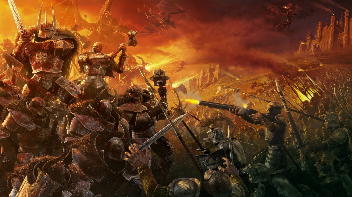 Warhammer   Mark of Chaos wallpaper 9370 1366x768