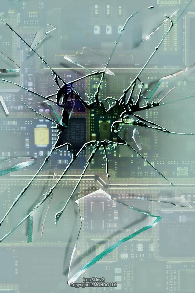 Broken screen SN03 iPhone wallpapers Background and Themes 640x960