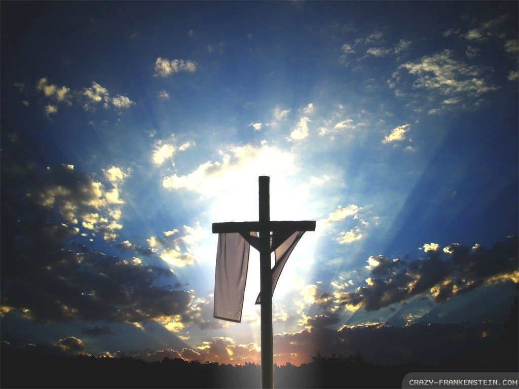 Christ Resurrection Nature Easter Sunday Wallpaper HQ Backgrounds 1024x768