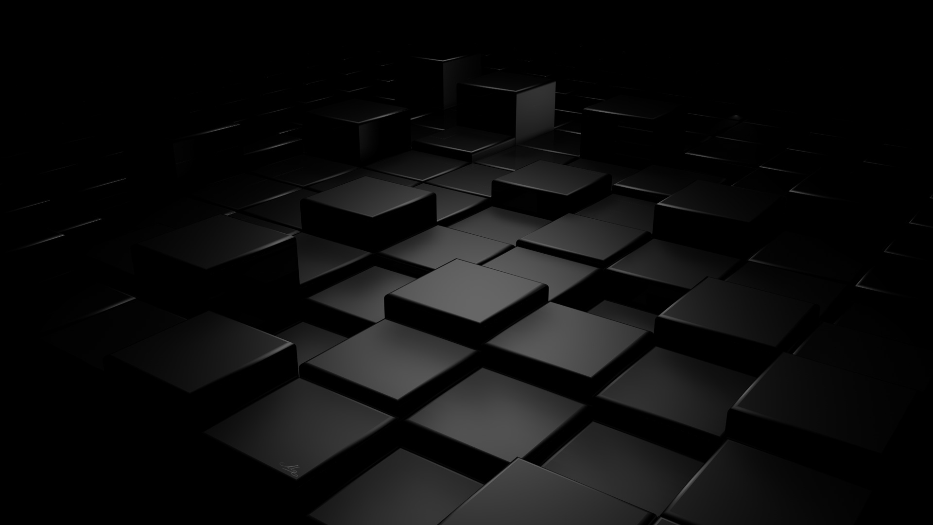 rendering shapes visualization cubes figures background 1920x1080