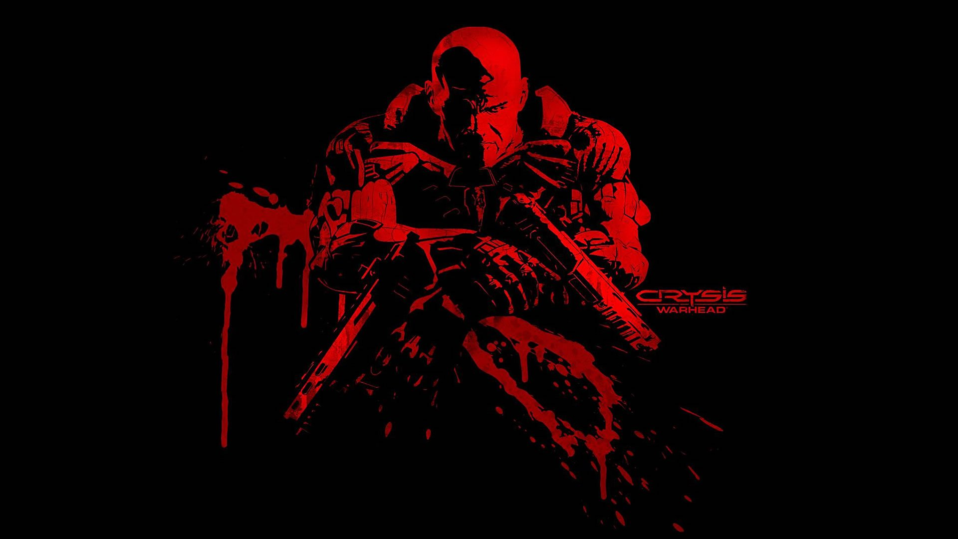 Psycho In Blood Red   Action Games Wallpaper Image featuring Crysis 1920x1080