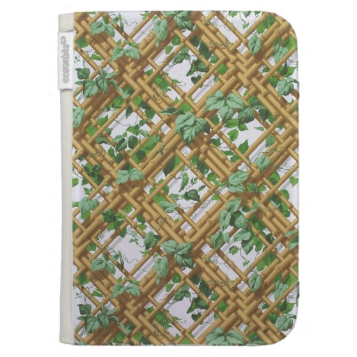 Dense ivy and trellis pattern wallpaper 1853 1859 kindle cases 512x512