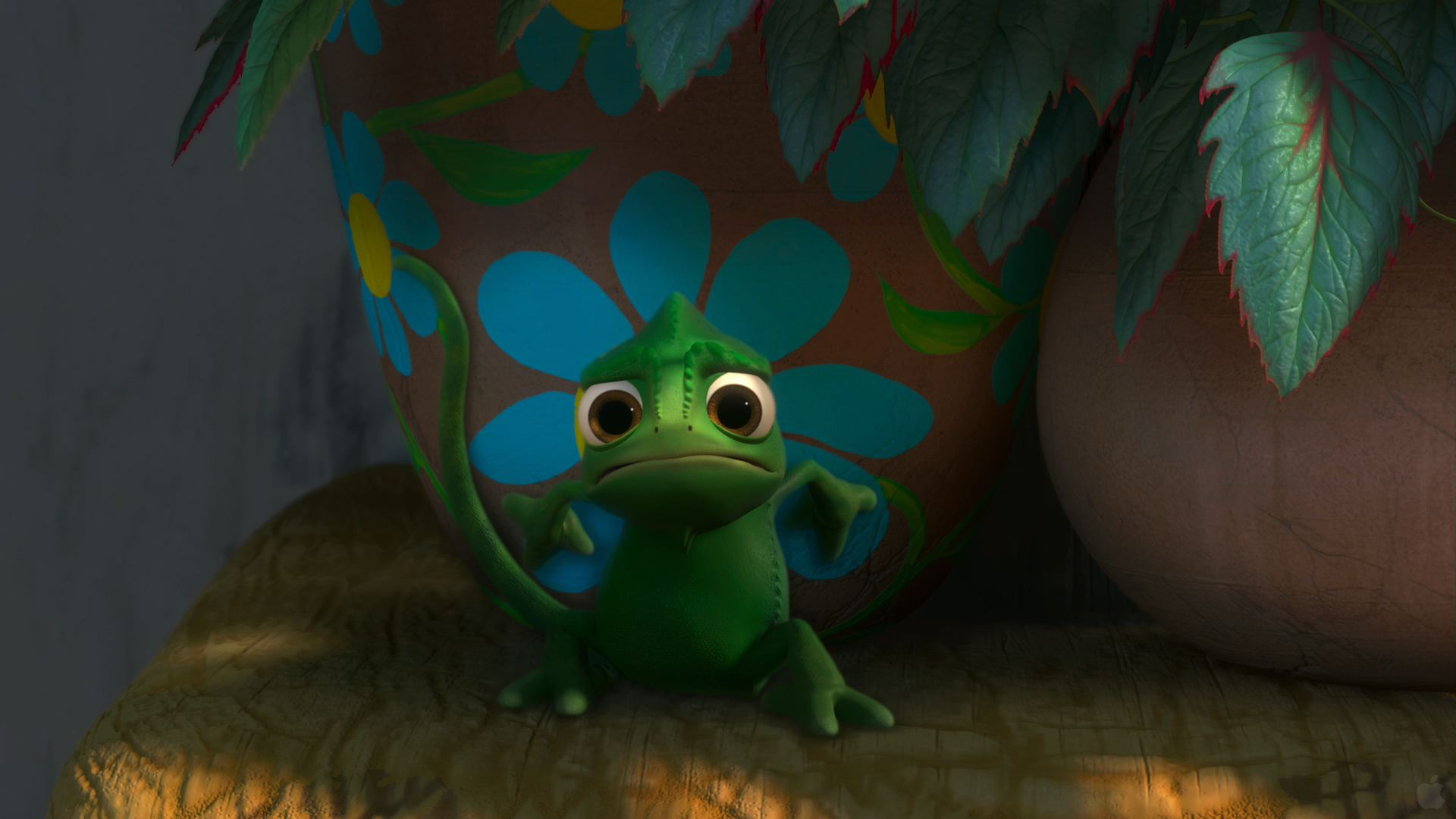 Pascal the Cute Chameleon from Disneys Tangled wallpaper   Click 1920x1080