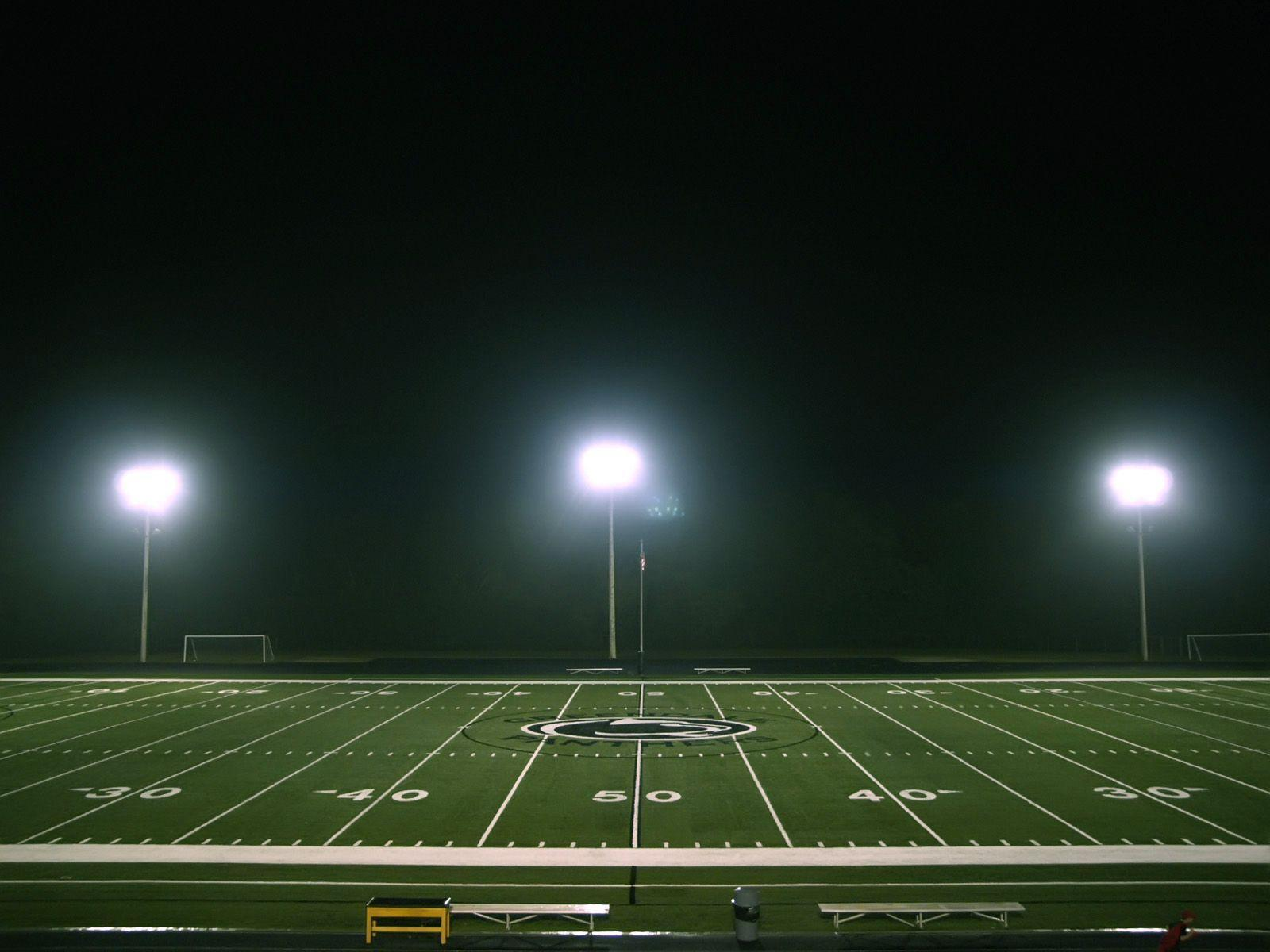Gallery For gt Football Field At Night Wallpaper 1600x1200