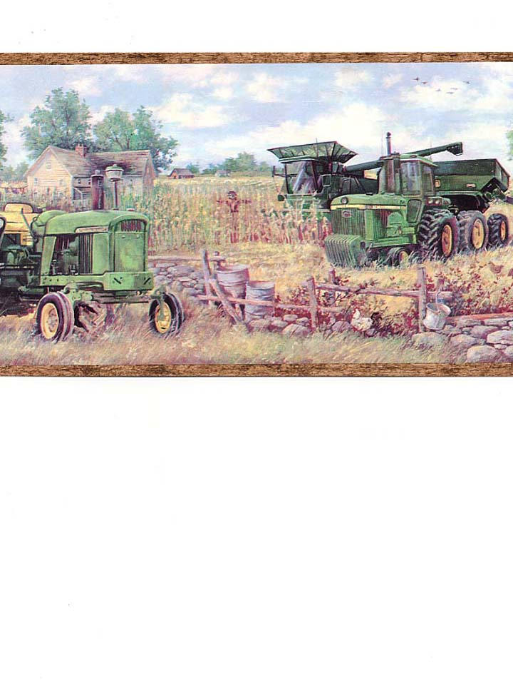 FARMS TOY TRACTOR BORDERS CHILDRENS WALLPAPER BORDER   20A12 720x960