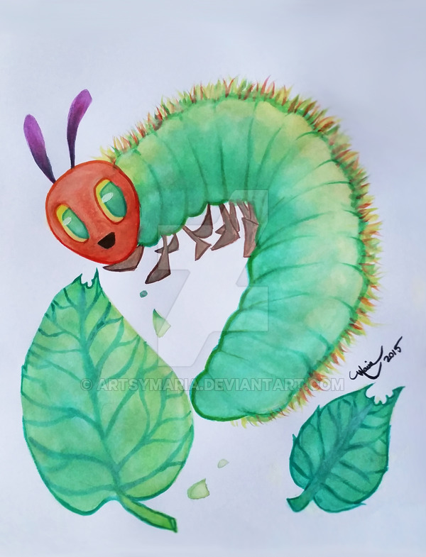 The Very Hungry Caterpillar by ArtsyMaria 600x785