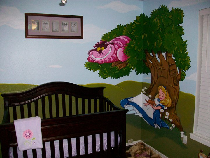 Alice In Wonderland Mural 03 By Wicked 720x541