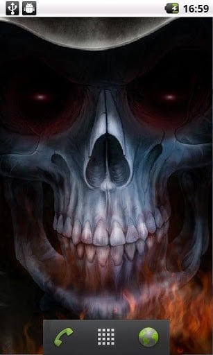 View bigger 3D Skull Live Wallpaper for Android screenshot 307x512