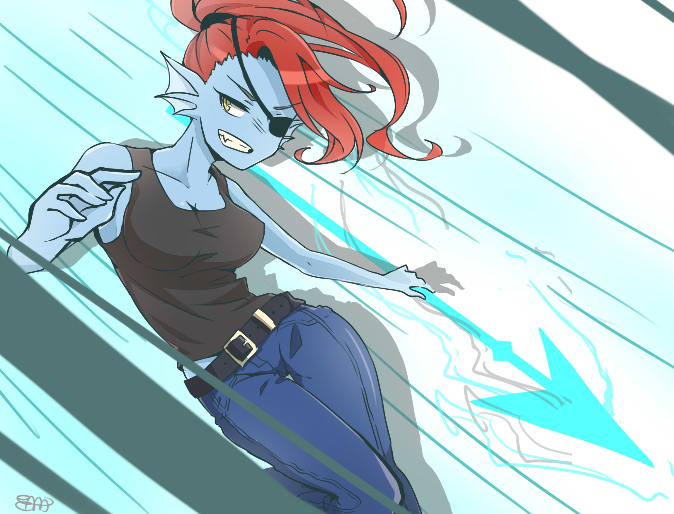 undertale undyne konachancom   Konachancom Anime Wallpapers 2300x1755