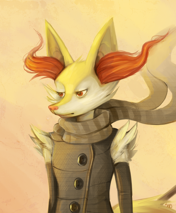 Braixen by Kadaashi 605x732