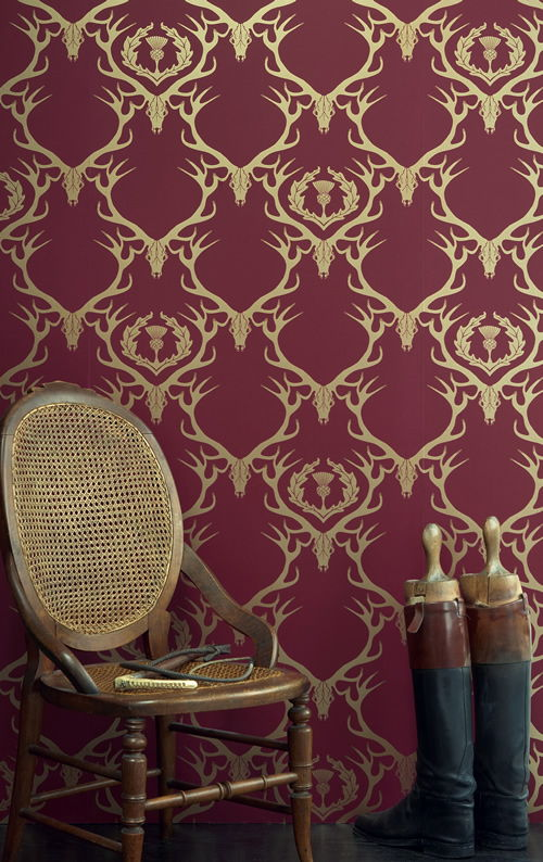 wallpapers walls traditional patterns classic damask wall 500x794