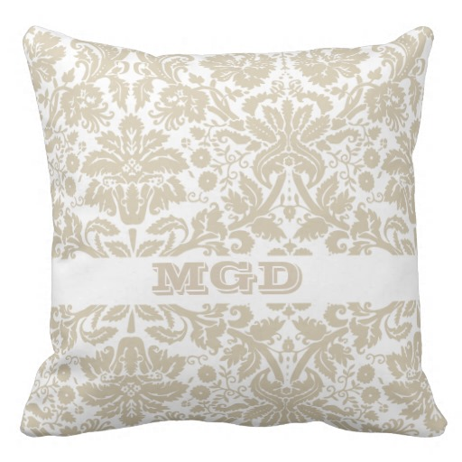 Vintage french floral art nouveau pattern throw pillows Zazzle 512x512