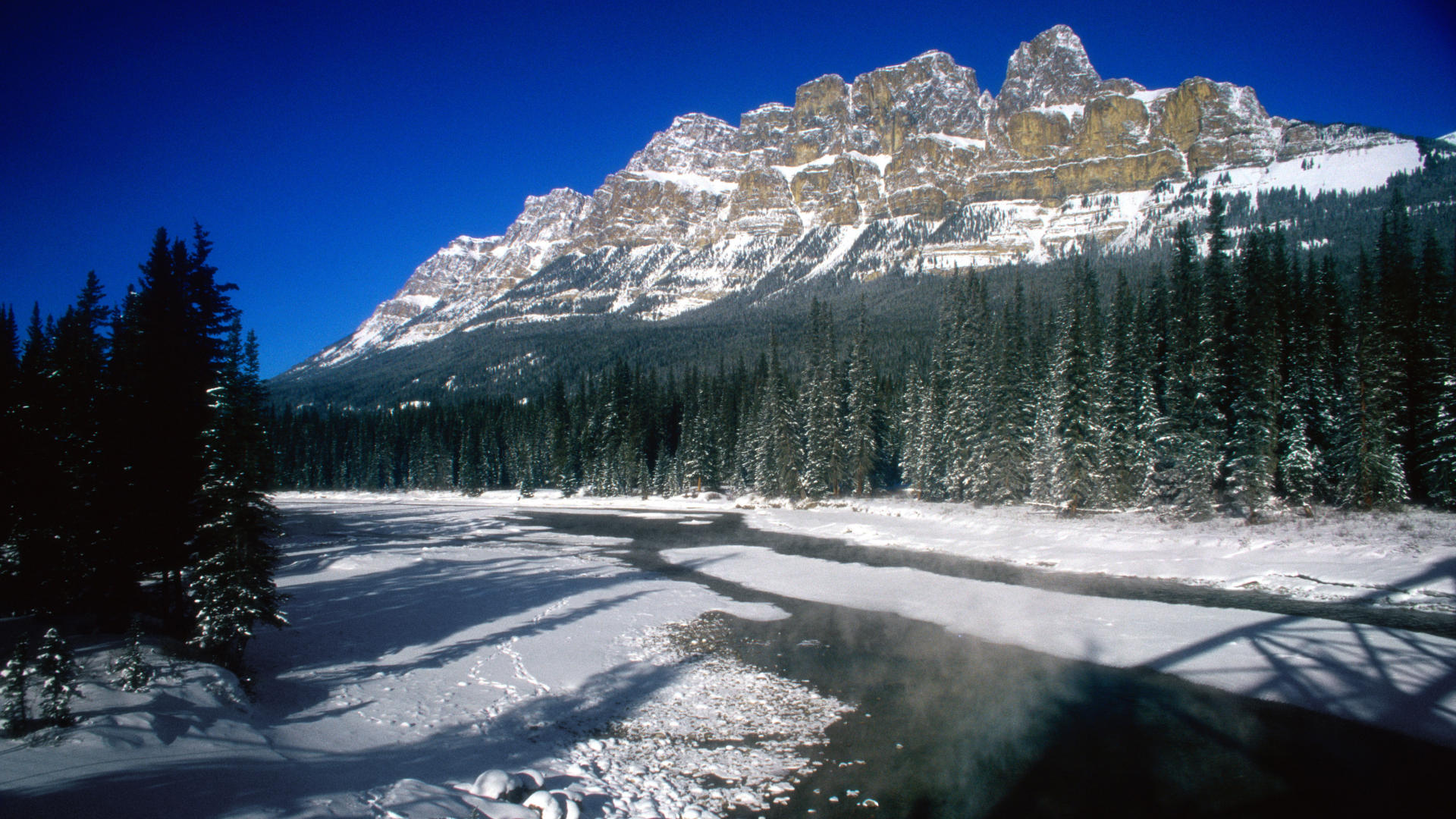 Backgrounds Alberta Canada Background Park National Castle Mountain 1920x1080