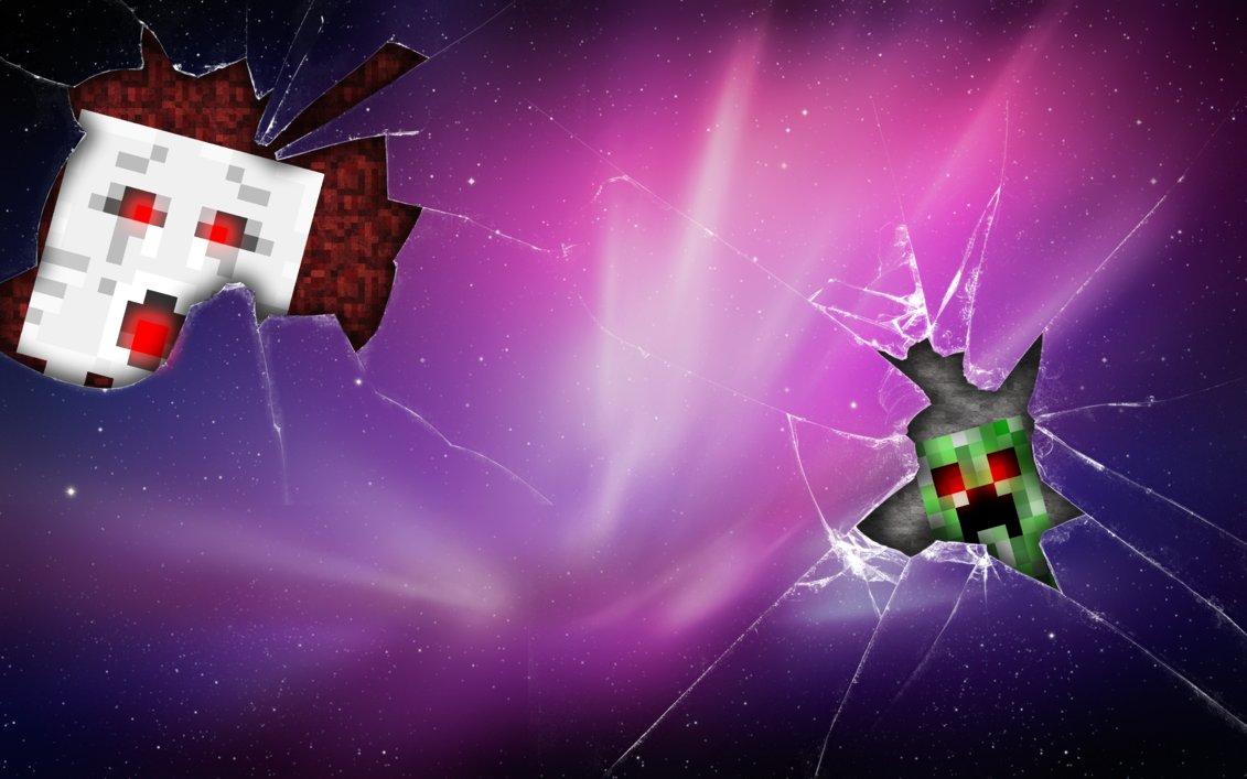 Minecraft Creeper and Ghast Wallpaper by adscomics 1131x707