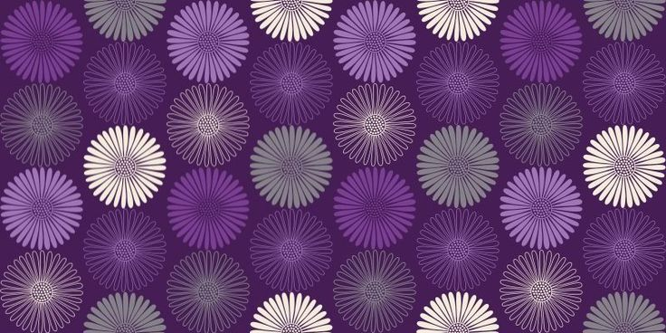 Daisy Purple 617005   Arthouse Wallpapers   A geometric daisy flower 736x368