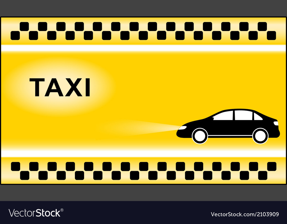 Taxi background with cab symbols light Royalty Vector 1000x780