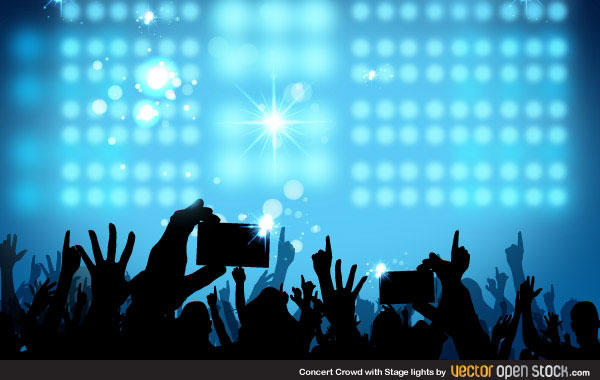 Concert Crowd Background Vector 123Freevectors 600x380