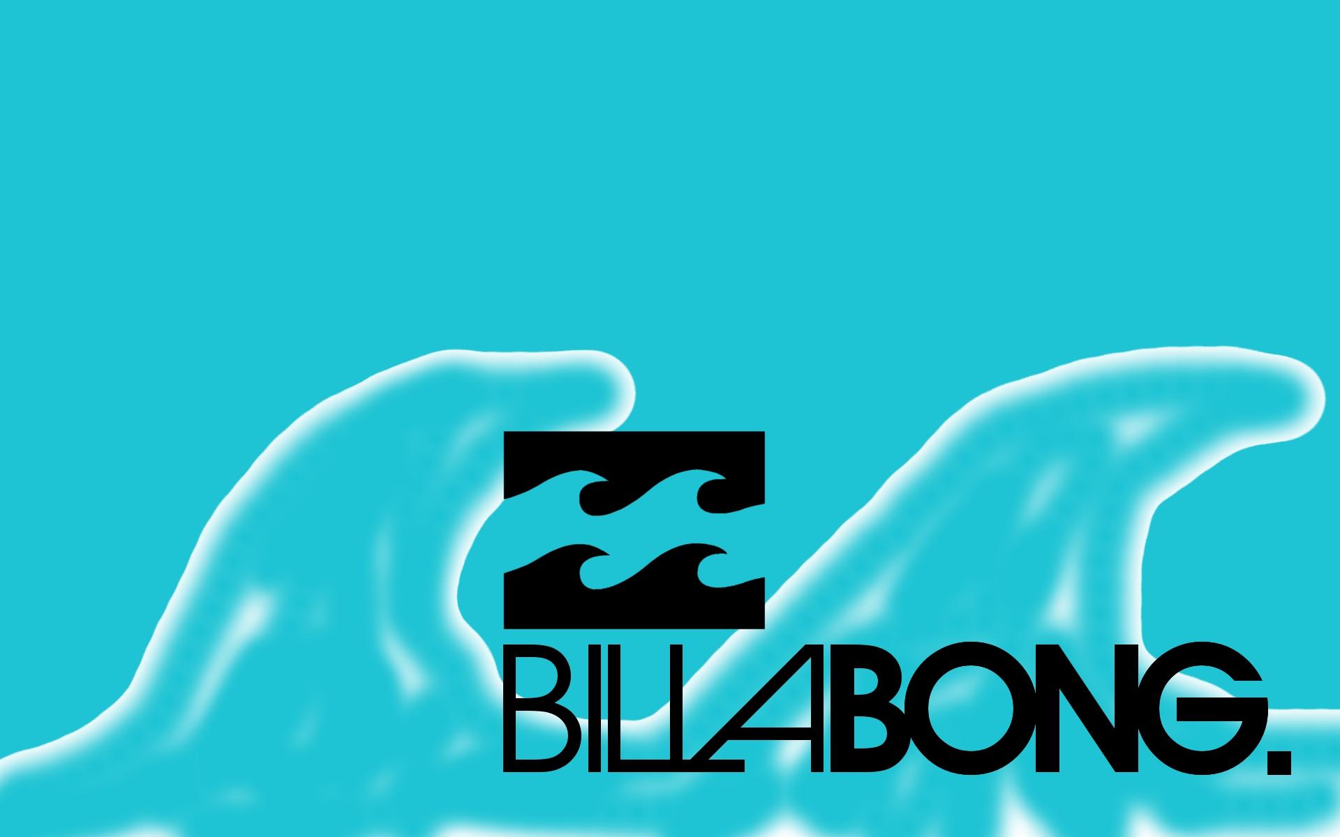 Billabong Logo On Blue Waves Background 1920x1200 WIDE Surfing 1920x1200