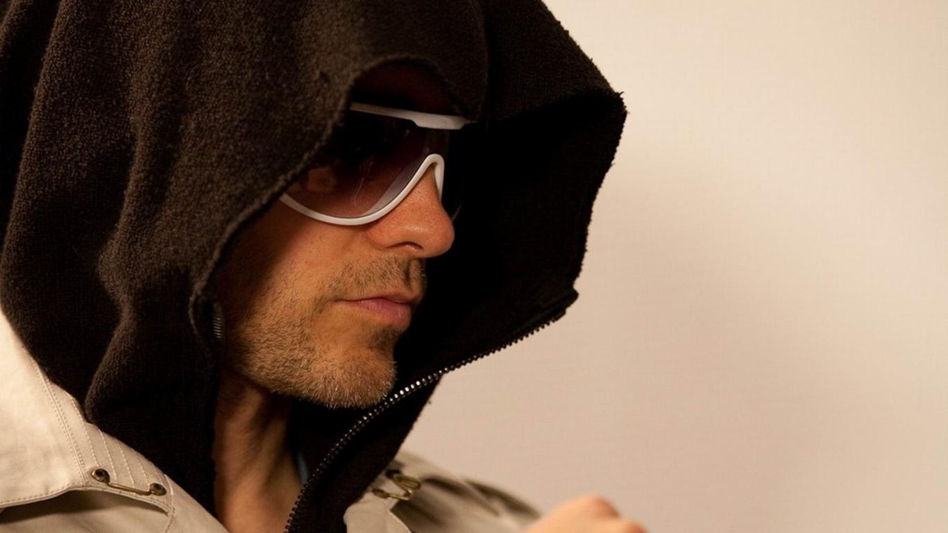 HD hood wallpapers style glasses hair Jared Leto cool man men 1366x768