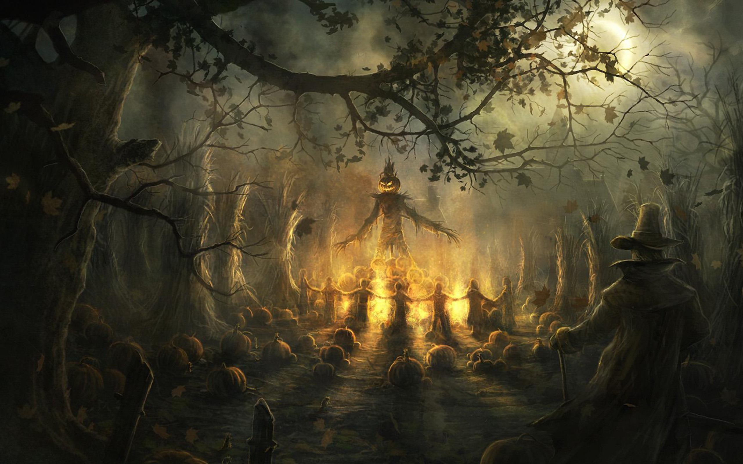 68 Scary Halloween Wallpapers on WallpaperPlay 2560x1600