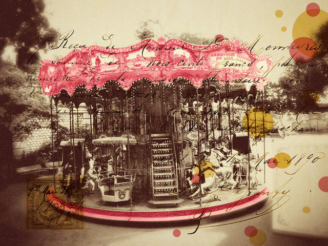 ... Merry Go Round Wall Art - Contemporary - Wallpaper - by Murals Your