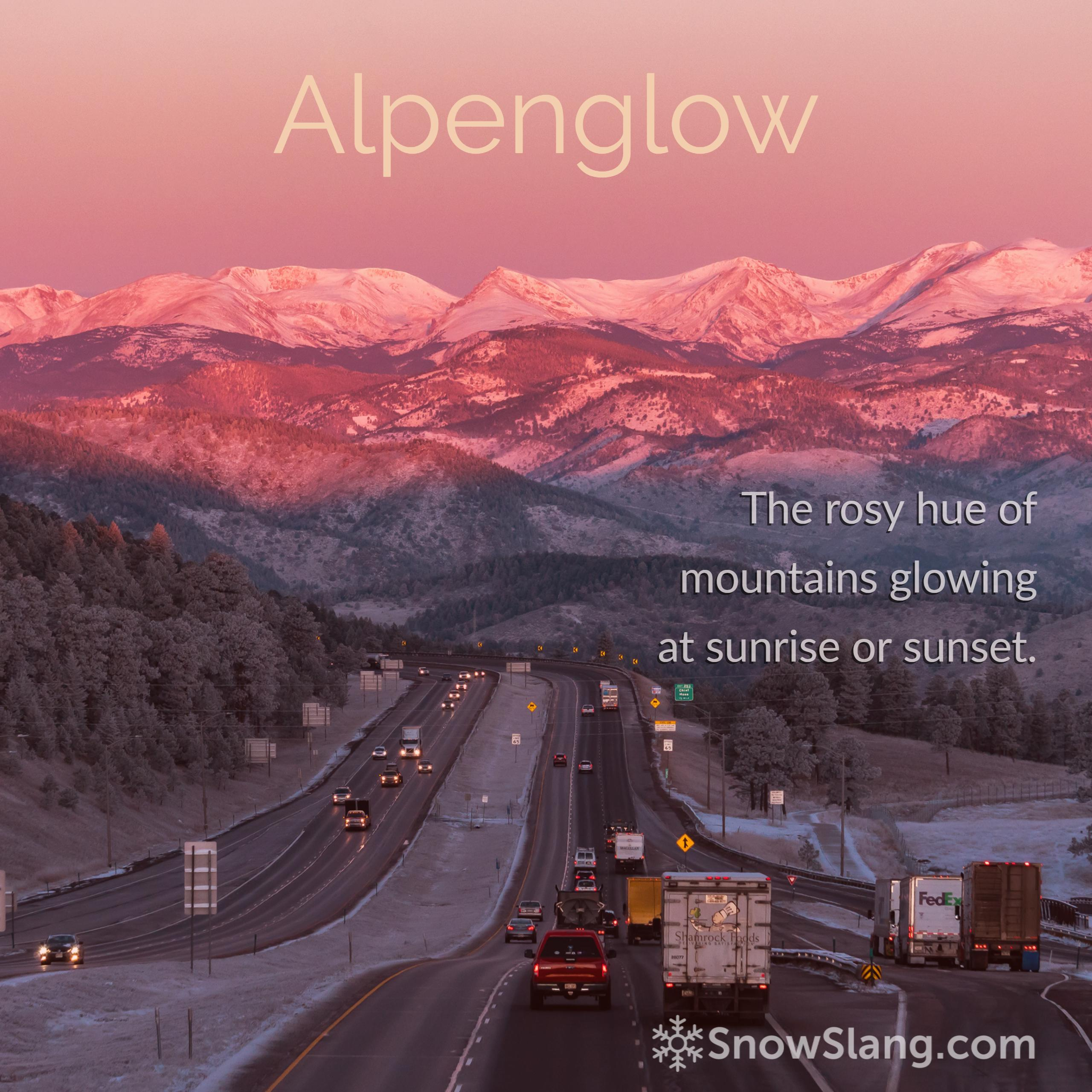 Alpenglow photos definition and cause   SnowSlangcom 2560x2560
