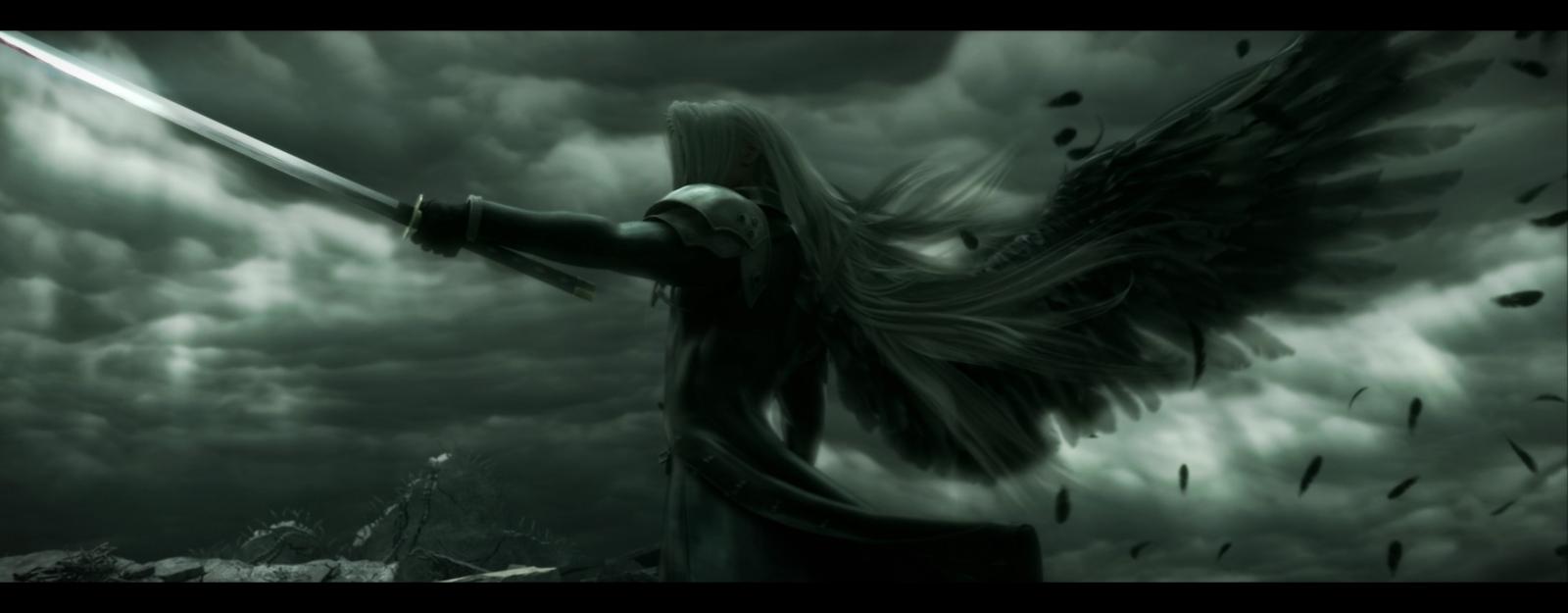 Final Fantasy VIIACC Sephiroth by HolloW Darklight on 1600x625