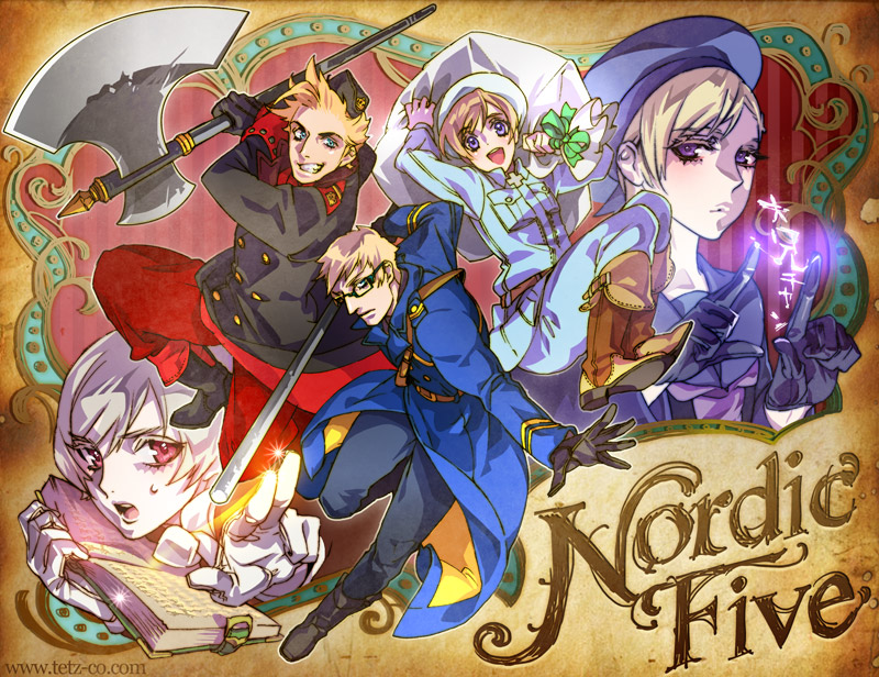 hetalia nordic five battle by tetz co 800x616