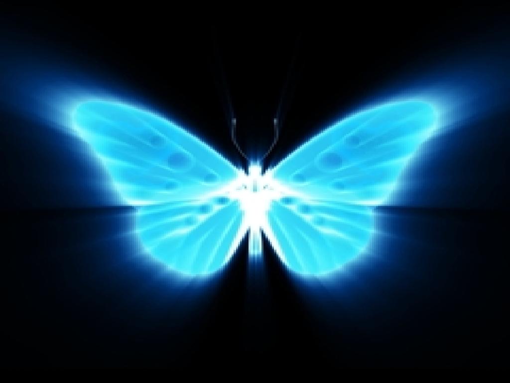 MARIPOSA AZUL NEN BLUE NEON BUTTERFLY fondo de pantalla 1024x768