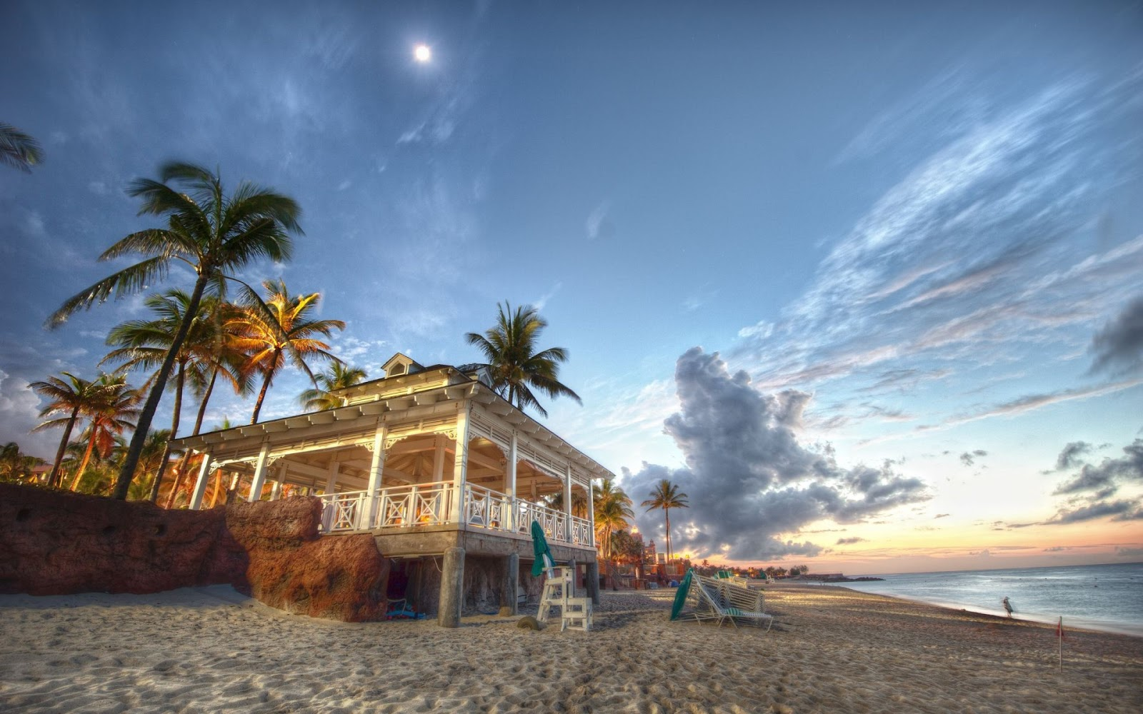 Beach House in Nassau Bahamas Full HD Desktop Wallpapers 1080p 1600x1000