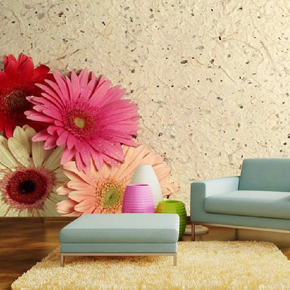 New African Daisy TV Background Wallpaper Mural Decorative Pattern 1001x1001