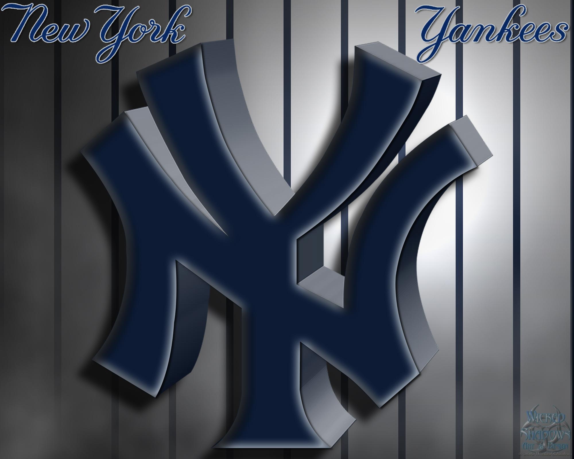 New York Yankees 3D Logo Wallpaper Download Wallpaper 2000x1600