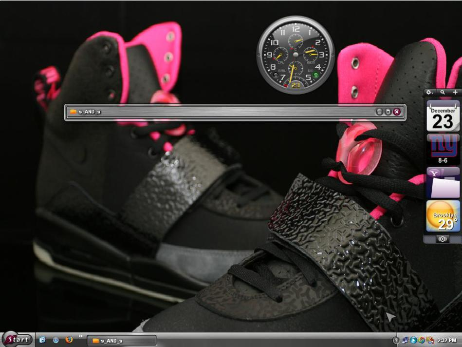 Nike Air Yeezy by Tony M YEEZY black with wallpaper by Tony M 949x712