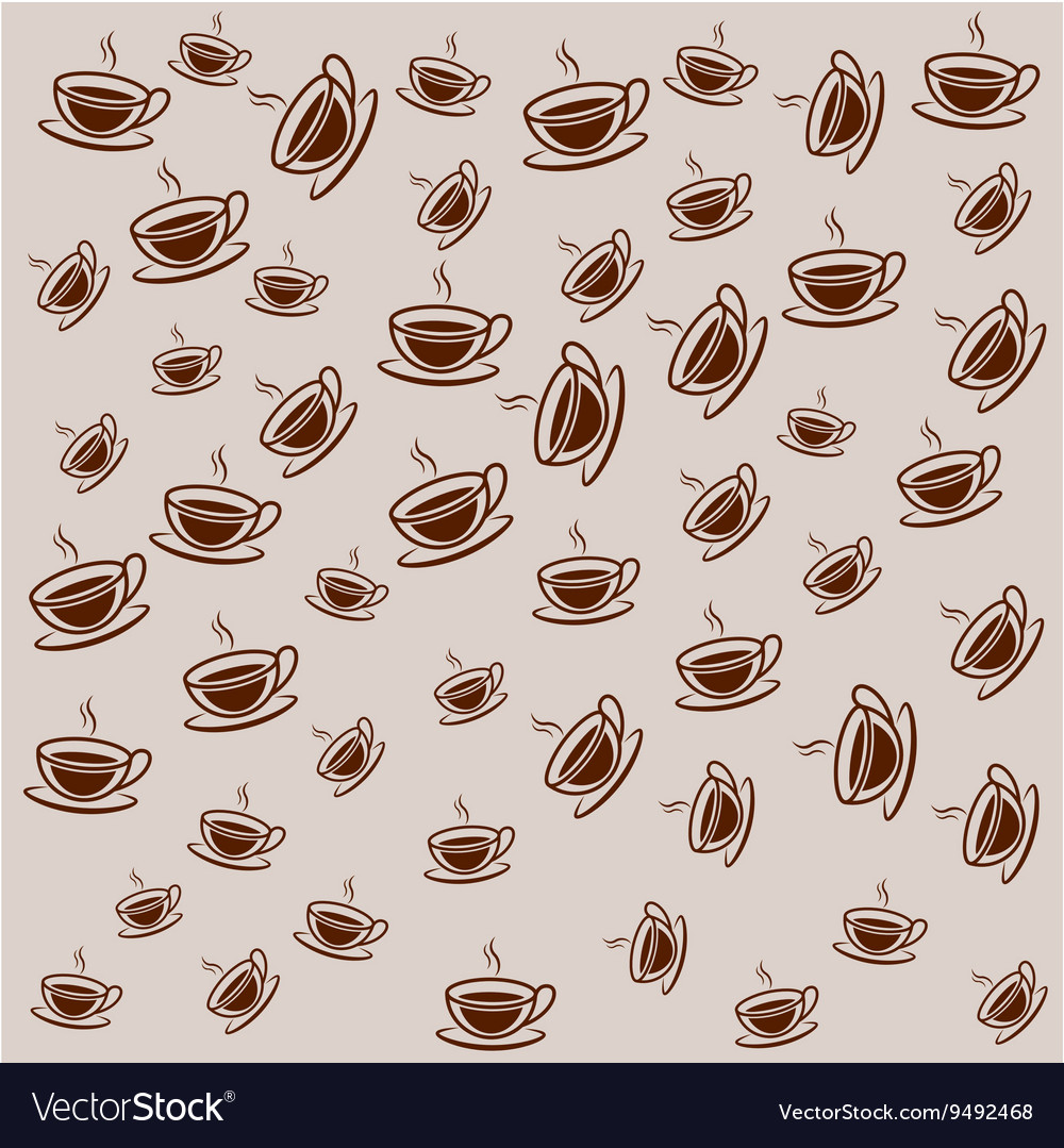 Background filled with coffee cups Royalty Vector Image 1000x1079