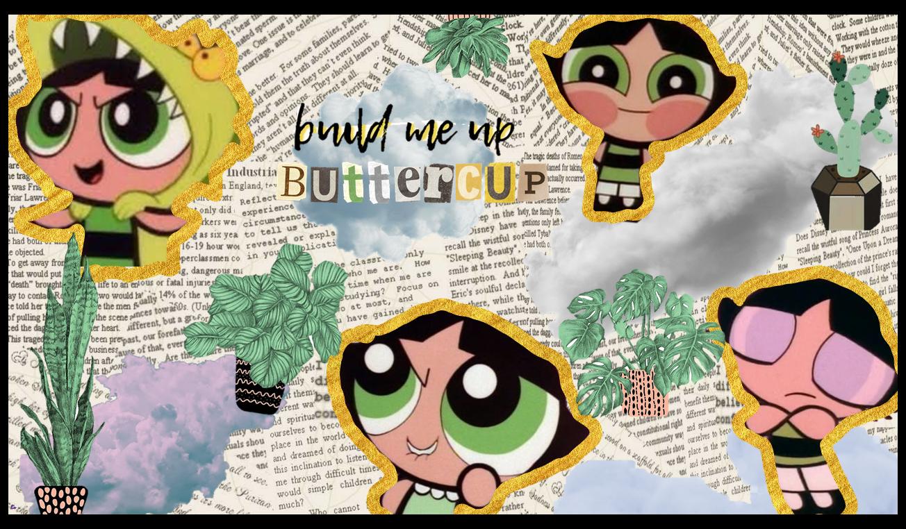 Powerpuff Girls AestheticVintage Desktop Wallpaper Buttercup 1304x762