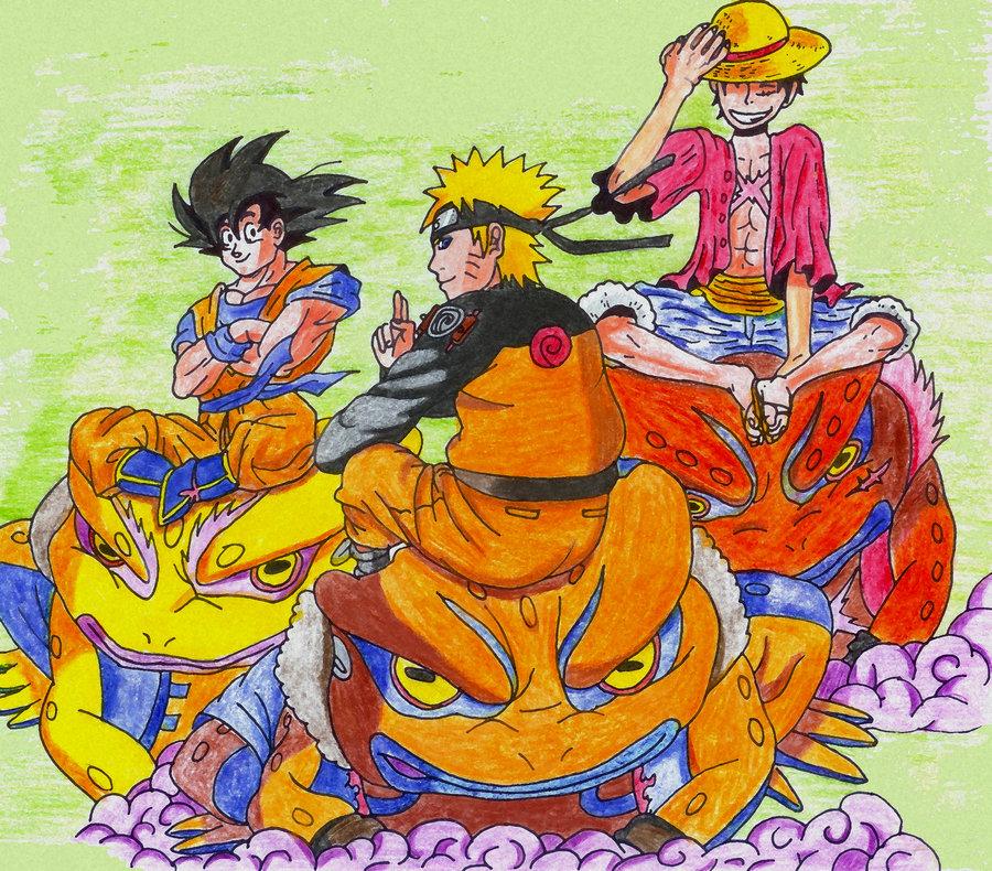 Naruto Goku Ruffy Wallpaper by UltimateFanManga 900x790